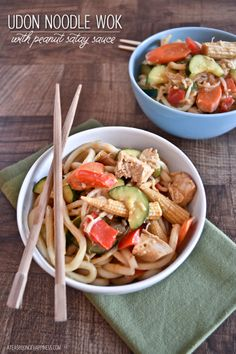 I need you in my life --> Udon Noodle Wok with Peanut Sauce via A Teaspoon of Happiness #comfort #takeout #healthy