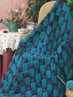 color blanket Solid strips throw afghan