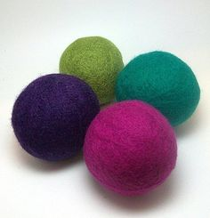 Wool dryer balls.  These are the best! I have the coconut essential oil added to mine and I love them!