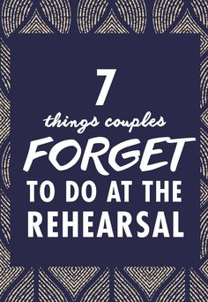 The rehearsal dinner is the kickoff to your wedding weekend, so you want things to start off smoothly and stress-free. There are also a few important items you need to check off your to-list, so make sure you don't forget them.