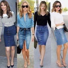 Denim Skirt Jean Skirt Feather Skirt Black Denim Jacket And Skirt White Denim Mini Skirt Denim Pencil Skirt Outfit, Denim Skirt Outfit Summer, Denim Skirt Outfits, Denim Mini Skirt, Denim Outfit, Casual Outfits, Summer Outfits, Fashion Outfits, Denim Skirts