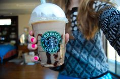 Amazing chocolate frappicino at Starbucks.
