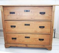 Easy DIY Home Decor Crafts: Putting Pattern on a Pine Chest of Drawers - When ...