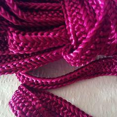 Galon, ruban sfifa marocaine, tissé en fil de soie rose fushia