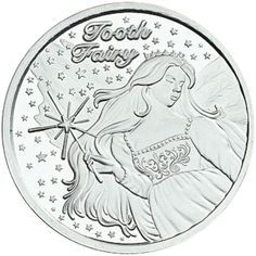 A Visit From The Tooth Fairy 1 oz .999 Silver Custom Engravable BU Round W//Box