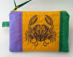 Zip Pouch Recycled Paraglider Zippered Pouch by OffChutes on Etsy