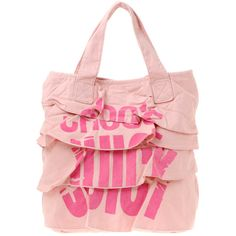 Juicy Couture Chose Juicy Ruffle Tote Bag ($94) ❤ liked on Polyvore