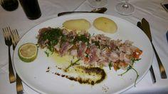 Seared tuna fillet. Yum!