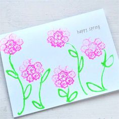 Spring Into a New Season: Make a Vegetable Print Flower Card