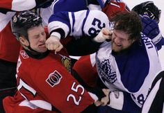 Fisticuffs - Chris Neil and Colton Orr (Hockey by Patrick Doyle: Jan. 11, 2011)