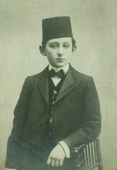 Şehzade (Prince) Ömer Faruk Efendi (1898-1969).  Istanbul, ca. 1910. He was the son of Abdülmecid, the last Ottoman Caliph.