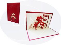 Unsere Hochzeitskarte mit küssendem Paar. Mehr entdecken auf: www.lin-popupkarten.de