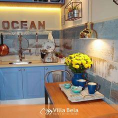 Aqui uma cozinha inspiradora que apostou no azul do Ecovilla @decortiles 💙  #villabelarevestimentos #arquitetura #architecture #interior #arquiteto #architect #archilovers #decorador #decor #decoração #design #designinteriores