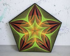 PENTAGRAM (Green - Orange) Pentagram written with one line is one of the oldest of all the symbols we own. The five-pointed star is the symbol of life, symbol of protection. It had various interpretations in different historical times of humankind. It even became the Sumerian and