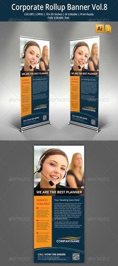 Corporate Roll-up Banner Template Vector EPS, Vector AI. Download here: http://graphicriver.net/item/corporate-rollup-banner-8/5576562?s_rank=446&ref=yinkira