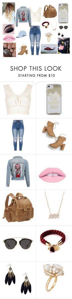 """""""Helicopter Ride w/ John❤️"""" by bekahrosee ❤ liked on Polyvore featuring River Island, Kate Spade, WWE, Le Donne, Christian Dior, Ross-Simons and Sole Society"""
