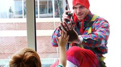 Christmastime can still be magical in the hospital, which the patients of Riley Hospital for Children at Indiana University Health learned this week when elves rappelled down the side of the 10-story building.