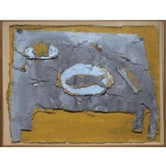 La taula by Miquel Barceló, 1982, oil and collage on cardboard laid on wood, 96*119.5cm