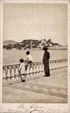 Brasil (Rio de Janeiro), 1861: bairro da Glória, vista do Passeio Público. Revert Henrique Klumb, acervo do Instituto Moreira Salles.