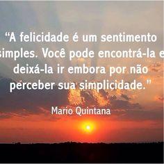 #MarioQuintana #felicidade #simplicidade