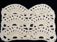 Crochet : Punto Abanico ❥Teresa Restegui http://www.pinterest.com/teretegui/❥