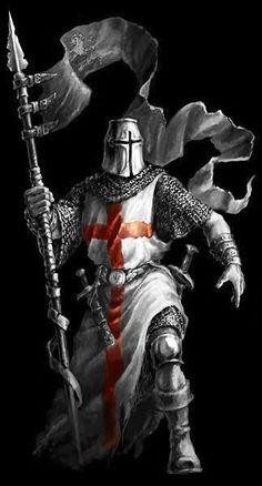 Cavaleiro medieval (efeito cut out)