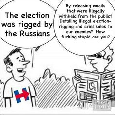 Elections weren't rigged....people should learn the difference between hacking and fishing