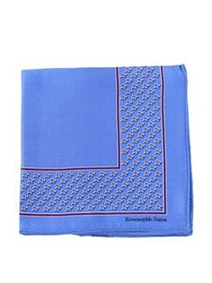 Ermenegildo Zegna Men's Silk Pocket Square, Blue