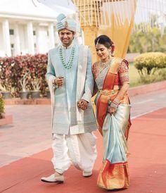 Beautiful couple in warmest colours ♥️ PC - Indian Wedding Clothes For Men, Wedding Dress Men, Saree Wedding, Wedding Bride, Wedding Shoot, Cutwork Blouse Designs, Saree Blouse Neck Designs, Bridal Blouse Designs, Indian Wedding Photography Poses
