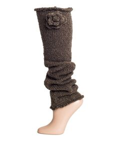 Another great find on #zulily! Coffee Bean Bouclé Blossom Leg Warmers #zulilyfinds