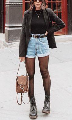 winter outfits jeans Como usar seu short jeans no - winteroutfits Denim Outfits, Outfit Jeans, Mode Outfits, Trendy Outfits, Fashion Outfits, Denim Shorts, Women's Jeans, Casual Jeans, Jean Short Outfits