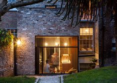 Contemporary brick extension to older house. NOJI Architects extend Dublin house with reclaimed bricks Contemporary Garden, Contemporary Chandelier, Contemporary Bedroom, Contemporary Building, Contemporary Apartment, Contemporary Wallpaper, Contemporary Office, Contemporary Architecture, Contemporary Design