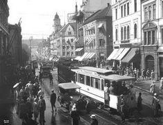 Oslo mainstreet and tram