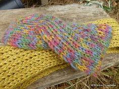 bandeau croisé, tricot