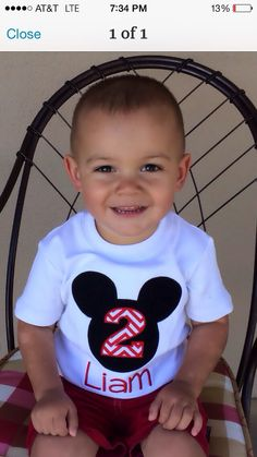Mickey Mouse Birthday Shirt / Free Personalization. , $20.00