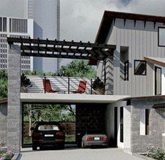 deck above carport