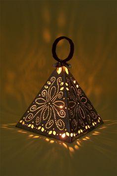 Beautiful Hand Made Zinc Lantern Flora Design