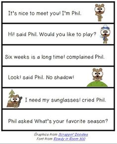 Positively Learning: What Phil Said! Quotation Marks freebie