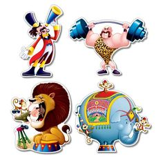 Circus Cutouts Party Accessory count) by The Beistle Company. Circus One-Size Circus Party Supplies, Circus Theme Party, Carnival Birthday Parties, Birthday Party Decorations, Party Themes, Party Ideas, Circus Birthday, Themed Parties, Theme Ideas
