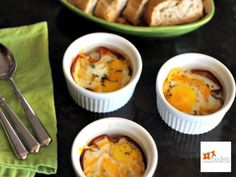 Easy Baked Eggs with Ham and Cheese