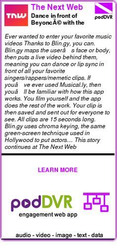 #UNCAT #PODCAST  The Next Web    Dance in front of Beyoncé with the Blin.gy app    READ:  https://podDVR.COM/?c=83880c55-0a36-d06d-3842-57c7a46fc9ea