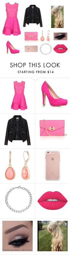 """""""PINK!"""" by colleen-culp on Polyvore featuring Miss KG, Zizzi, Diane Von Furstenberg, Vintage America, Individuality Beads and Lime Crime"""