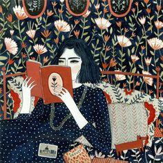 Pinzellades al món: Les il·lustracions d'Yelena Bryksenkova: dones llegint