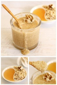 DIY: oatmeal honey face scrub