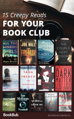 15 creepy, twist-filled thrillers & mysteries perfect for a fall book club!You can find Thrillers and more on our creepy,. Book Club Books, Book Nerd, Book Lists, Best Books To Read, Good Books, My Books, Book Suggestions, Book Recommendations, Good Thriller Books