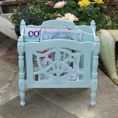 Cottage style magazine rack