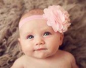Ballet Pink Satin and Tulle Flower Headband