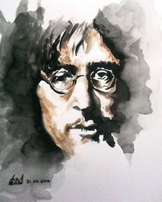 Portrait Of John Lennon by Vijay -  WOW, there is no mistaking who this is.   Beautiful !!!!