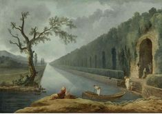 Hubert Robert (Paris 1733 - 1801), Garden scene with a canal, oil on canvas, 39 by 57 in.; 99.1 by 144.8 cm. Est. 150,000 - 250,000 USD. photo courtesy Sotheby's