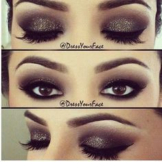 #Makeup #newyear #smokeyeye #glitter